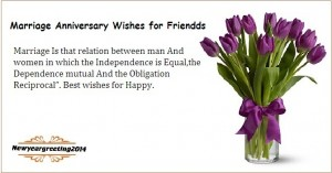 Marriage anniversary wishes for friends sms