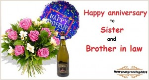 Happy anniversary to sister and brother in law