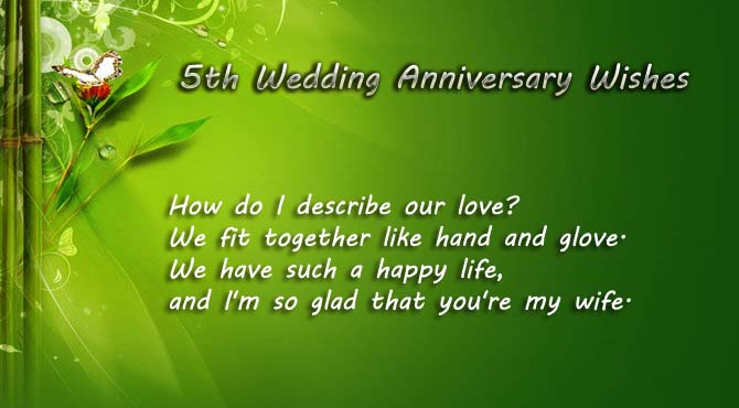 5th Wedding Anniversary Quotes for Wife