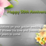 Happy 50th Wedding Anniversary Wishes for Parents