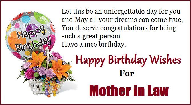 Happy birthday quotes for mom in law