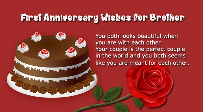 Anniversary Wishes For Brother And Bhabhi Quotes: 1st Wedding Anniversary Wishes For Brother