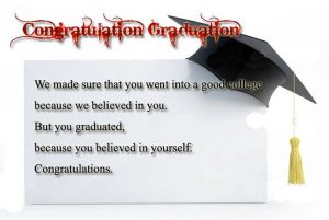 Congratulation Messages for Graduation