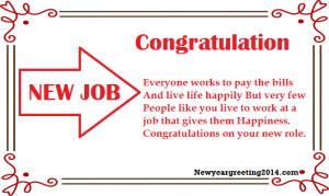 Congratulation Messages for New Job