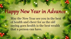 Happy New Year Wishes in Advance