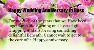 Happy Wedding Anniversary Message to Boss