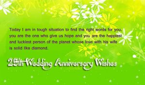 25th Anniversary to Uncle and Aunty