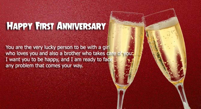 Happy first anniversary to sister & Brother in law