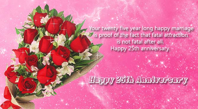 Happy 25th Marriage Anniversary Wishes for Parents