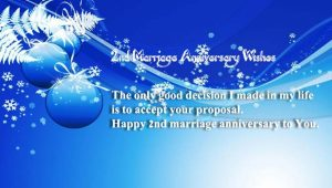 Happy 2nd Marriage Anniversary Wishes for Husband