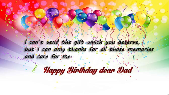 Happy Birthday Wishes for Dad from daughter