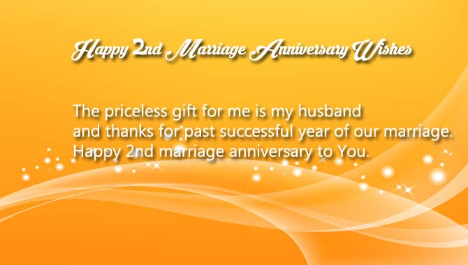Happy Second Anniversary Wishes for Husband