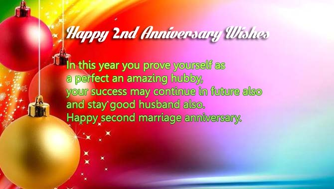 Happy second marriage anniversary Wishes