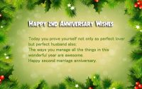 second Anniversary wishes for Husband