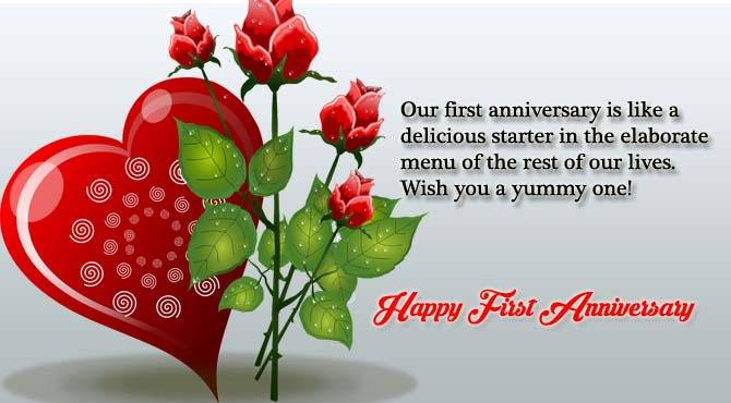 Happy First Anniversary Wishes for Husband