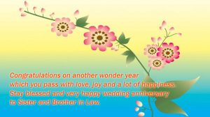 Happy Anniversary for Sister and Brother in Law