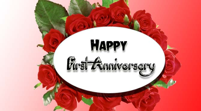 Happy first wedding anniversary message to my husband happy first anniversary wishes to my husband m4hsunfo