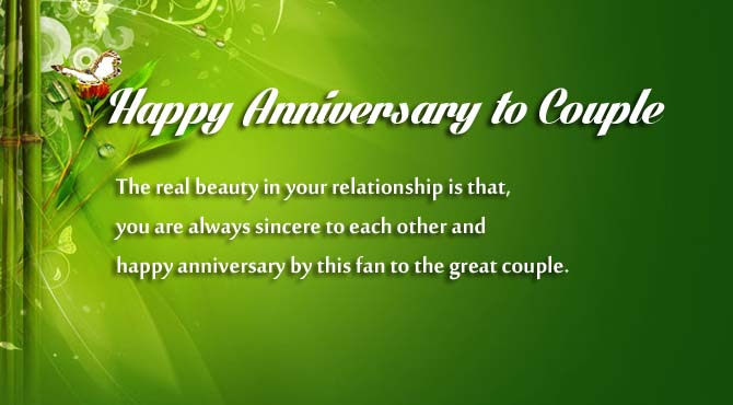 Happy wedding anniversary wishes to a couple wishes lover