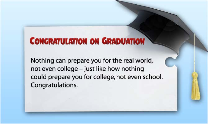 Congratulation Messages for Graduation Student