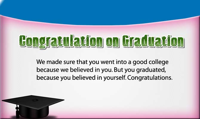 Congratulation on Graduation image