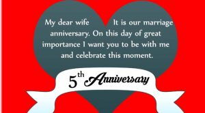5th Marriage Anniversary Wishes for Wife