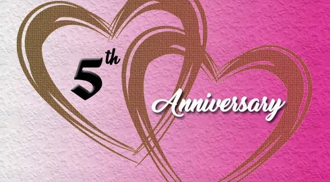 5th Wedding Anniversary Wishes for Wife