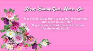 Happy Birthday to Dear Mom in Law