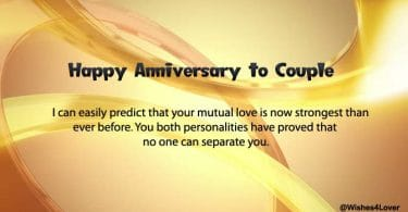Happy Wedding Anniversary Greetings for Couple