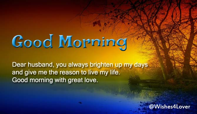 Good Morning Messages for Husband | Wishes4Lover