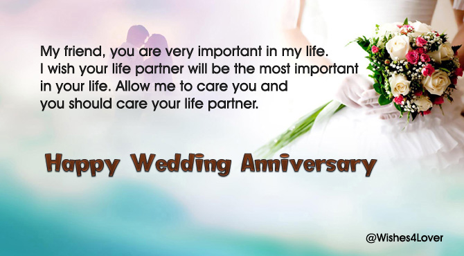 Wedding Anniversary Quotes for Friends.